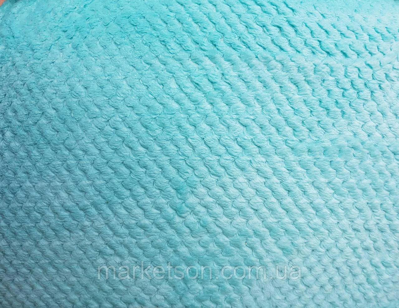 Простынь махровая из бамбука 180*220. Голубой.