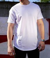 Футболка мужская белая удлиненная бренд ТУР модель Фриман (Freeman)  размер XS, S, M, L, XL