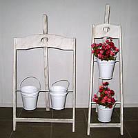Подставка для цветов Мольберт деревянный белый , фото 1
