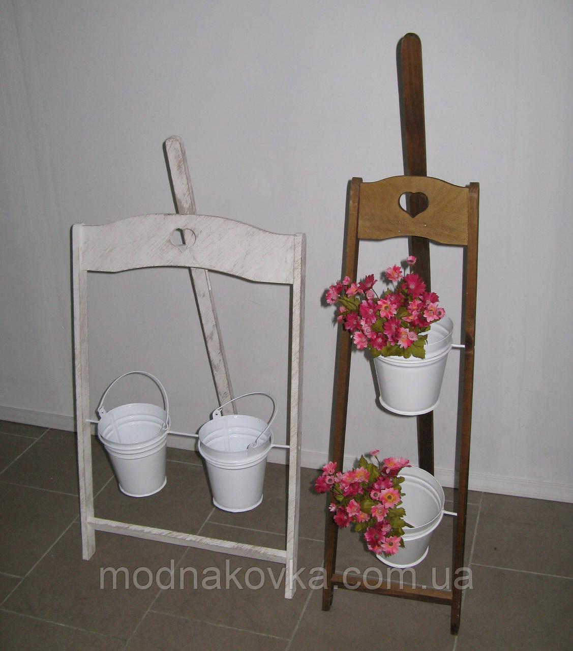 Подставка для цветов Мольберт деревянный вертикальный