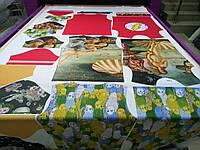 Печать кроя на рулоне ткани