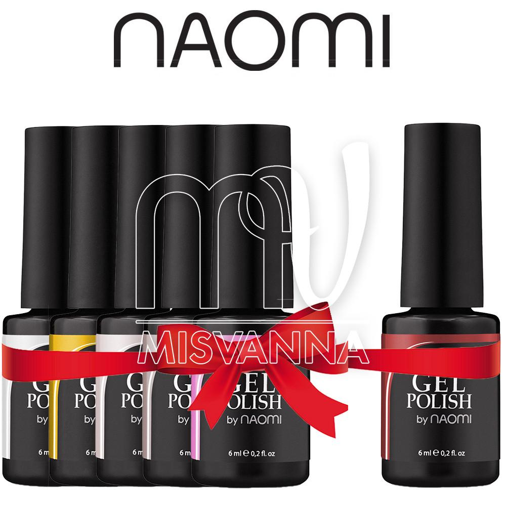 """Набор гель-лаков """"Naomi 5+1"""", 6 мл."""