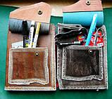 Кожаная обложка под скетчбук ручной работы подарок, фото 6