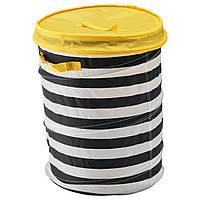 ✅ IKEA FLYTTBAR (803.288.24) Корзина с крышкой, желтая