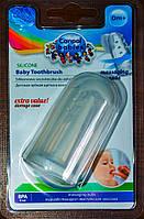 Детская силиконовая зубная щетка на палец Canpol