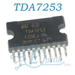 TDA7253, аудио усилитель, 8Вт, DBS11