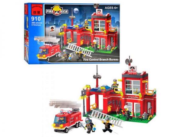 Конструктор BRICK 910 Пожежна тривога, 380 елементів, в коробці, 41-28-6,5 см