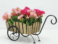 Кованая подставка для цветов Лебедь, фото 1