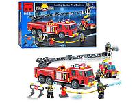 Конструктор BRICK 908 Пожежна тривога, 607 елементів, в коробці, 48-32-6,5 см, фото 1