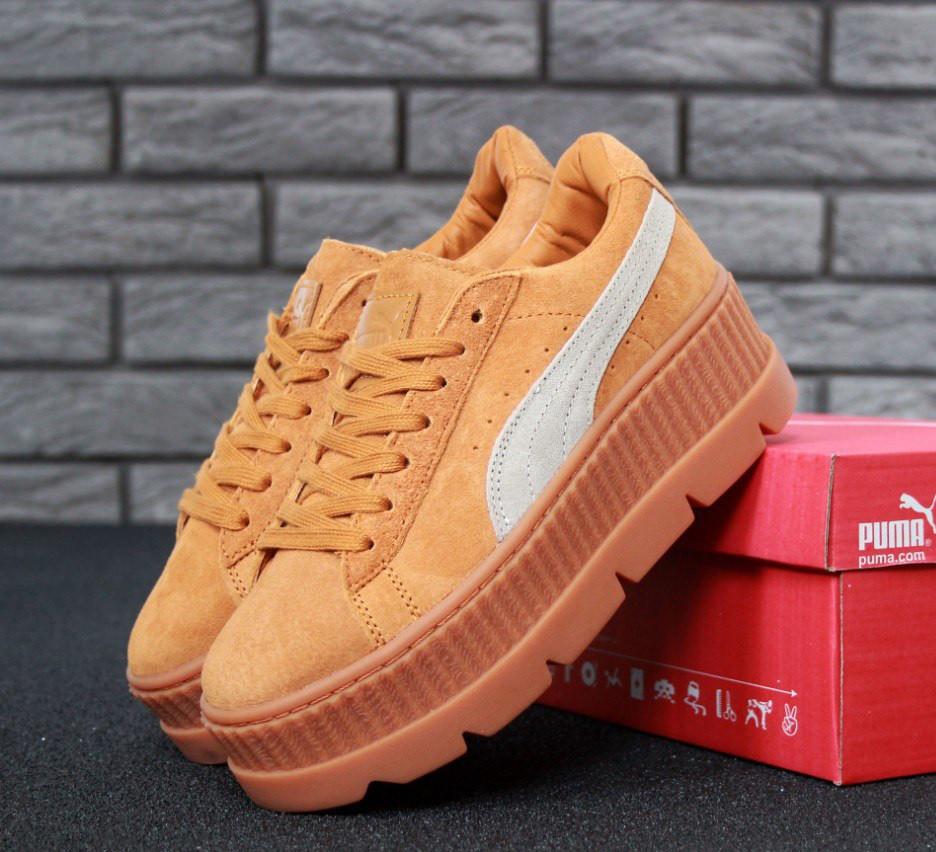 huge selection of dc7e7 fed10 Кроссовки Puma x Fenty Rihanna Cleated Creeper Suede - Pink Medium женские:  купить в Киеве. Брендовые кроссовки от интернет-магазина «Reverie Shoes»