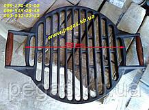 Решітка чавунна гриль кругла, плити, барбекю, мангал