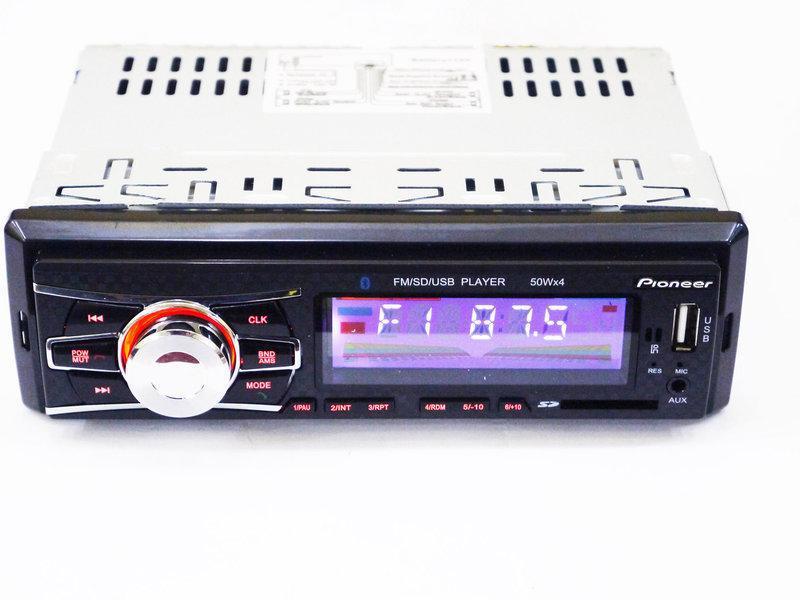 Универсальная автомагнитола Pioneer 6083 Bluetooth, MP3, FM, USB, SD, AUX