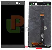 Дисплей (экран)  Sony F3211 Xperia XA Ultra/F3212/F3213/F3215/F3216 + тачскрин (сенсор), серый, Graphite Black, оригинал