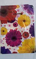 Пакет с прорезной ручкой 30х40 (цветочная фантазия), 50шт/уп