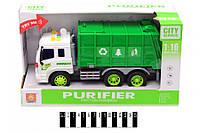 Машинка Грузовик мусоровоз WY320A, масштаб 1:16, муз. свет