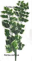 Штучні гілки бенжаміна,пучок з 5 гілок,высота95см( колір листя зелений з білим краєм), фото 1