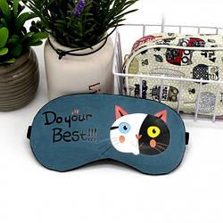 Маска для сну Чорно-білий кіт