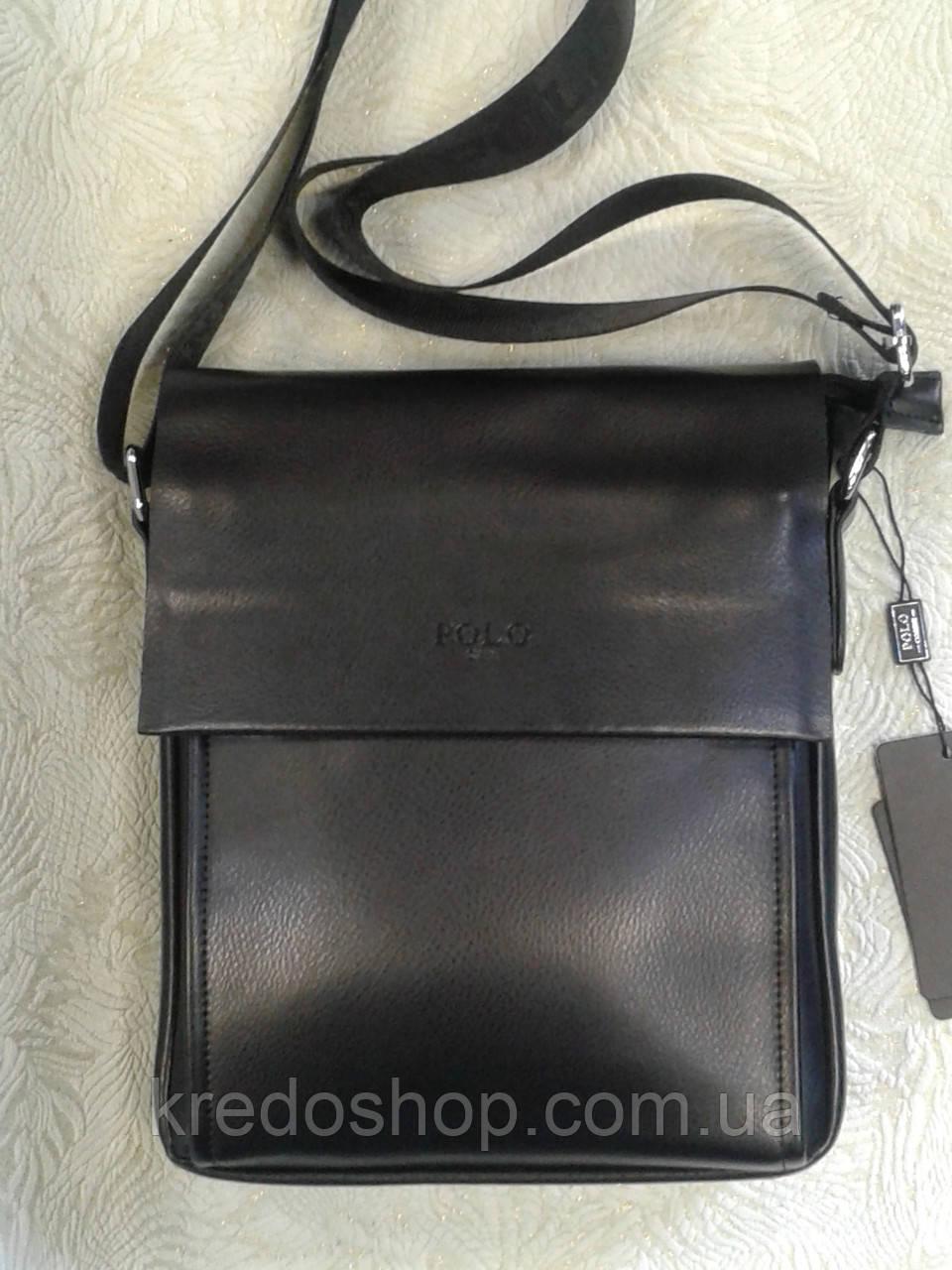 f14de292ad7d Мужская сумка POLO черная стильная через плечо: продажа, цена в ...