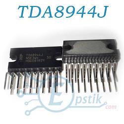 TDA8944J, двухканальный аудио усилитель, 2x7Вт, DBS17P