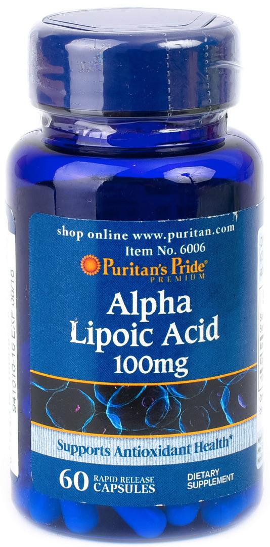 Puritan's Pride Alpha Lipoic Acid 100mg (60 капс.)