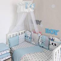 Комплект детского постельного белья Chudiki голубой, фото 1