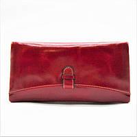 Удивительный кожаный кошелек JCCS красного цвета BСМ-020810, фото 1