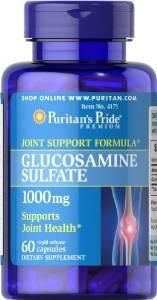Puritan's Pride Glucosamine Sulfate 1000 mg, Глюкозамин (60 капс.)