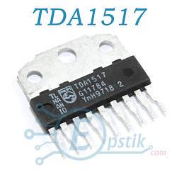 TDA1517, двухканальный аудиоусилитель, 2 х 6Вт, SIL9