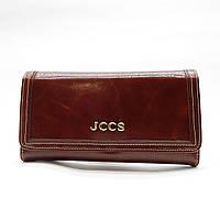 Превосходный кожаный кошелек JCCS коричневого цвета EUU-096111, фото 1