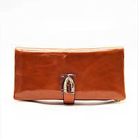 Стильный кожаный кошелек рыжего цвета BТТ-995000, фото 1
