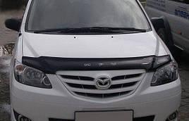 Дефлектор капоту, мухобойка Mazda MPV з 2002-2006 р. в. VIP