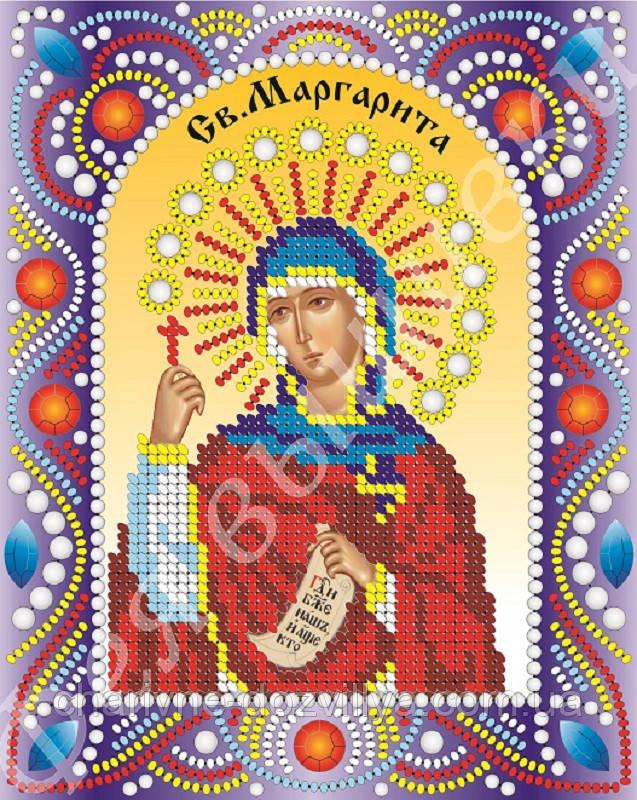 """Именная икона с камнями и жемчугом """"Святая Маргарита"""""""