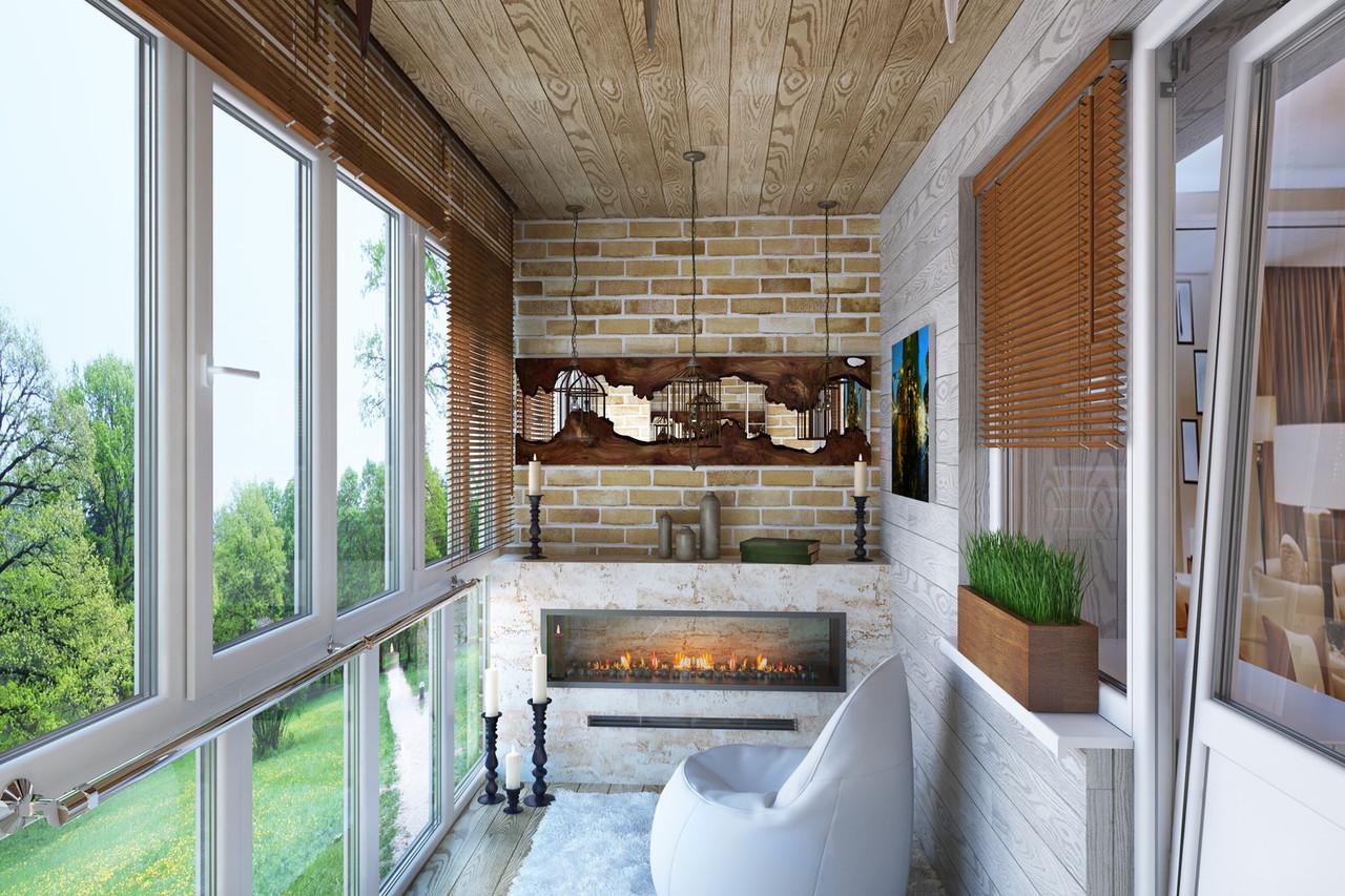 Остекление нестандартных балконов и лоджий профилем Rehau