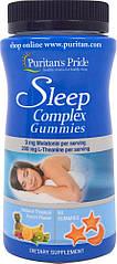 Puritan's Pride Sleep Complex, Комплекс для сну, Мелатонін, L-Теанін (60 капс.)