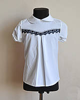 Школьная блузка на девочку с коротким рукавом, фото 1