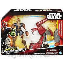 Игровой набор разборные фигурки Star Wars Hero Mashers Энакин Скайуокер и гравицикл Hasbro