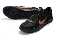 Футбольные сороконожки Nike Mercurial VaporX XII Pro TF Black/Total Orange/White, фото 1