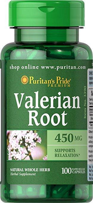 Puritan's Pride Valerian Root 450mg (100 капс.)