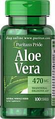 Puritan's Pride Aloe Vera, Алое Віра 470mg (100 капс.)