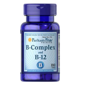 Puritan's Pride B-Complex + B-12, Комплекс витаминов B плюс витамин B-12 (90 таб.)