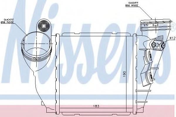 Радиатор интеркулера Volkswagen Bora 2000- (1.9TDi) KEMP