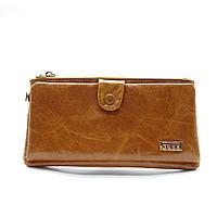 Оригинальный кожаный кошелек JCCS рыжего цвета IIO-007760