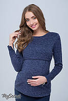 Джемпер для беременных и кормления ALANA, синий меланж