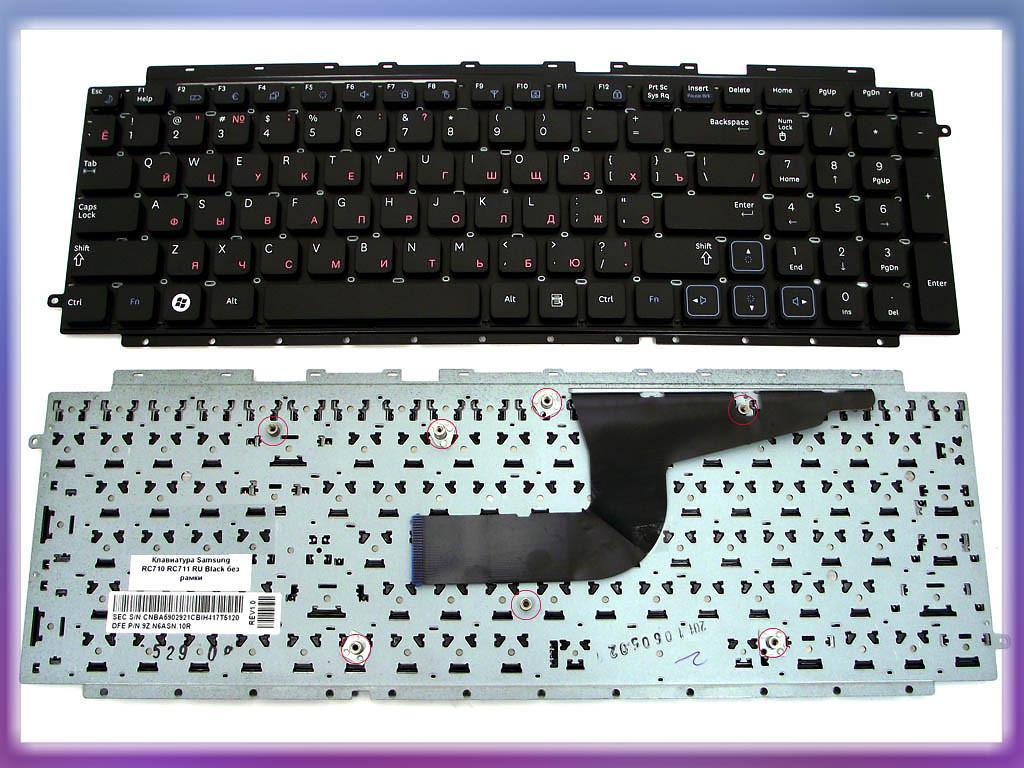 Клавиатура Samsung RC710 ( RU Black, Без рамки ) BA59-02921D. Оригинал