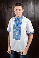 Вышитая мужская сорочка с короткими рукавами, фото 1