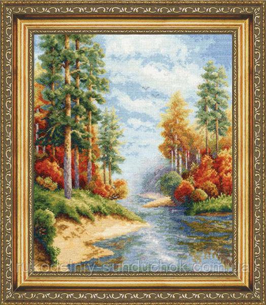 """Набор для вышивания крестом ТМ Золотое Руно """"Осень. Времена года """" ВМ-001"""
