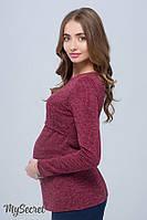 Джемпер для беременных и кормления ALANA, марсала меланж 1, фото 1