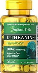 Puritan's Pride L-Theanine 100 mg (200 mg. Per Serving) (90 caps)