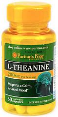Puritan's Pride L-Theanine 100 mg, Л-Теанин (30 капс.)