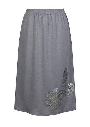 Размер 56 - миди юбка Маки - цвет серый